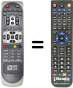 Replacement remote control DIGITALB DIGITAL B HD