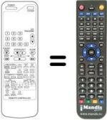 Replacement remote control JINN SONIC 7700 VCR