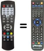 Replacement remote control T-LOGIC TL-DVBT2