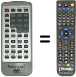 Replacement remote control Mkc DVD511