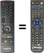 Replacement remote control MaaxTV LN5000 HD